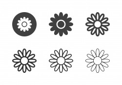 Daisy Flower Icons - Multi Series