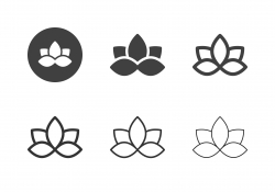 Water Lily Flower Icons - Multi Series