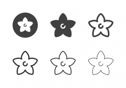 Balloon Flower Icons - Multi Series