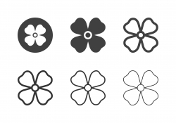 Aubrieta Flower Icons - Multi Series