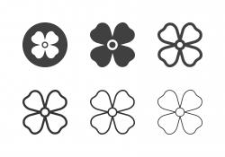 Aubrieta Flower Icons - Multi Series