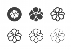 Cosmos Flower Icons - Multi Series