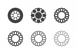 Golden Marguerite Flower Icons - Multi Series