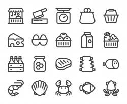 Fresh Market - Bold Line Icons