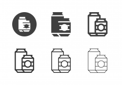 Drink Cans Icons - Multi Series