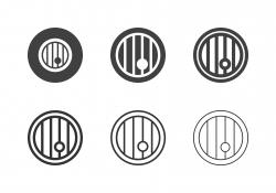 Wooden Barrel Icons - Multi Series