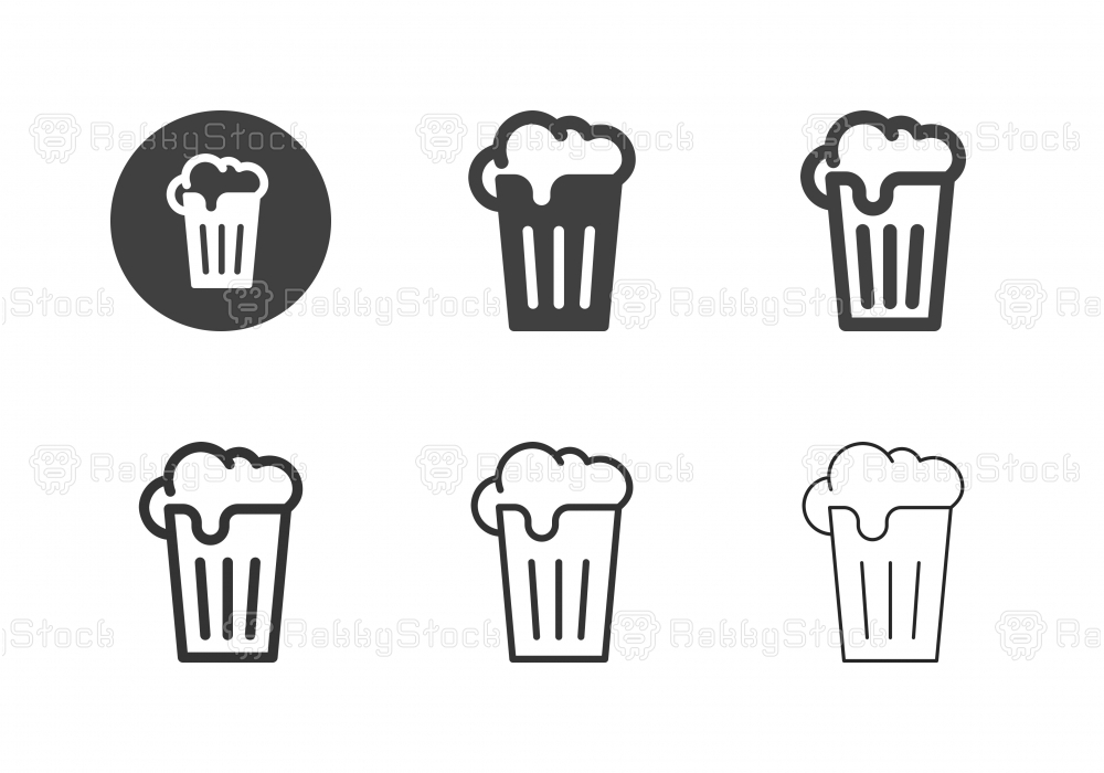 Glass of Beer Icons - Multi Series