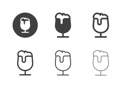 Glass of Light Beer Icons - Multi Series