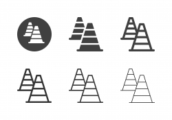 Traffic Cone Icons - Multi Series