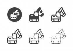 Excavator Icons - Multi Series