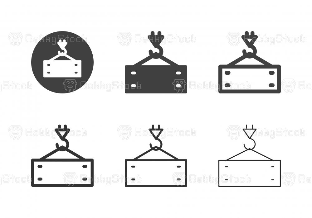 Crane Hook and Metal Icons - Multi Series