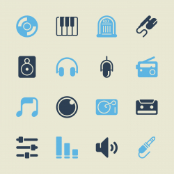 Music and Audio Icons - Color Series | EPS10