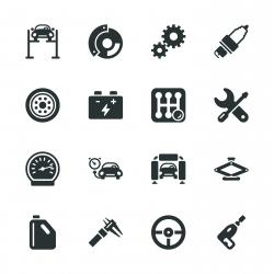 Auto Service Silhouette Icons