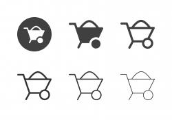 Wheelbarrow Icons - Multi Series