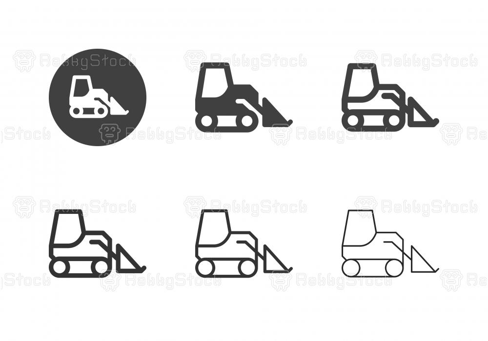 Skid Steer Loader Icons - Multi Series