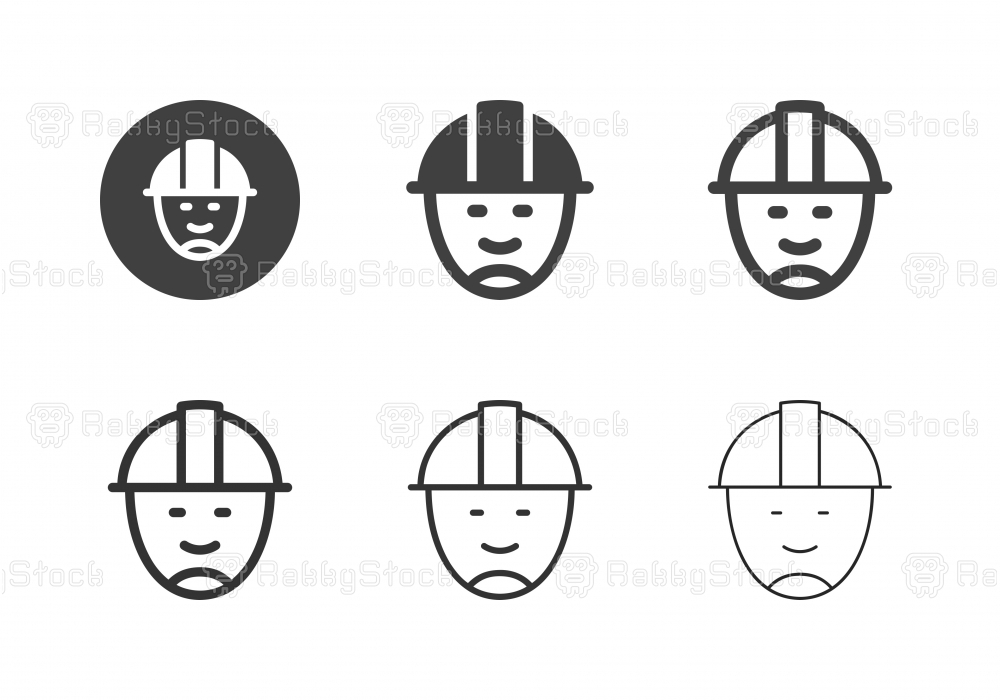 Construction Worker Icons - Multi Series