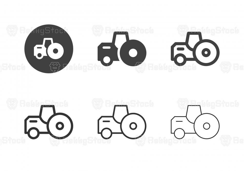 Road Roller Icons - Multi Series