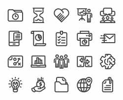 Project Management - Bold Line Icons