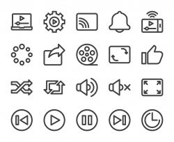 Video Streaming - Bold Line Icons