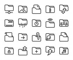 Folder - Bold Line Icons