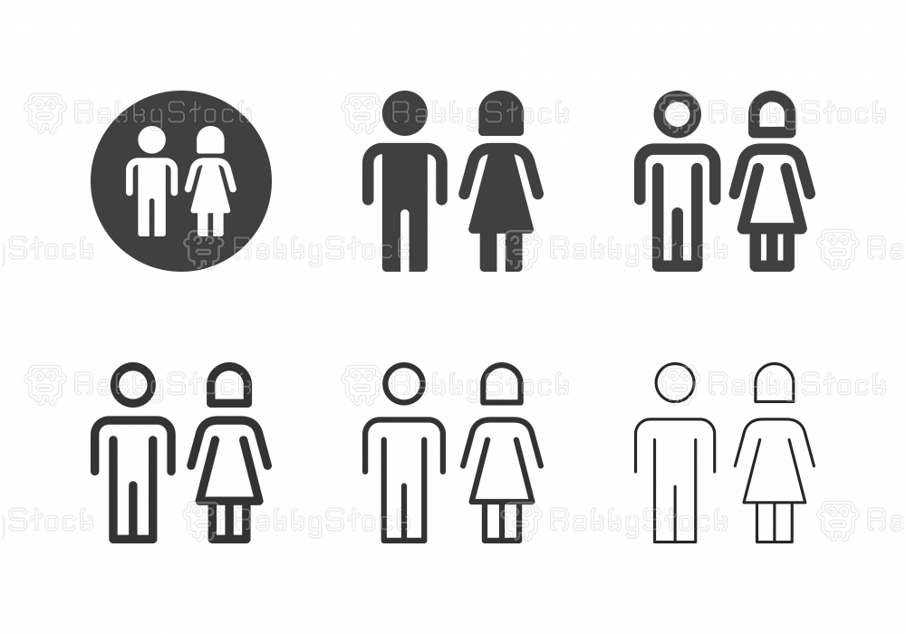 Toiler Sign Icons - Multi Series