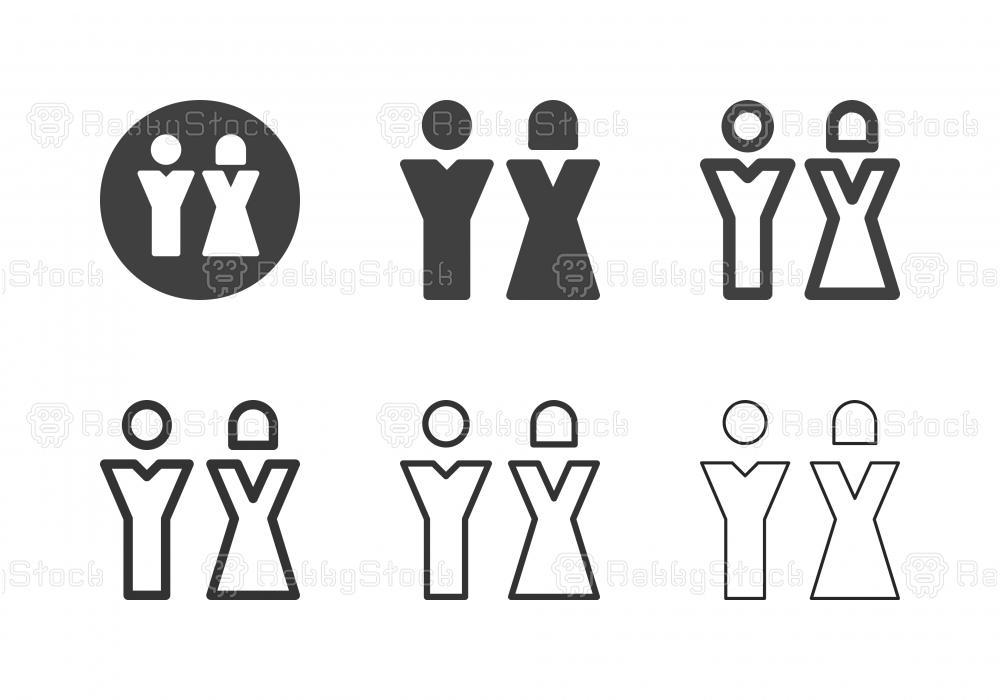 Bathroom Sign Icons - Multi Series