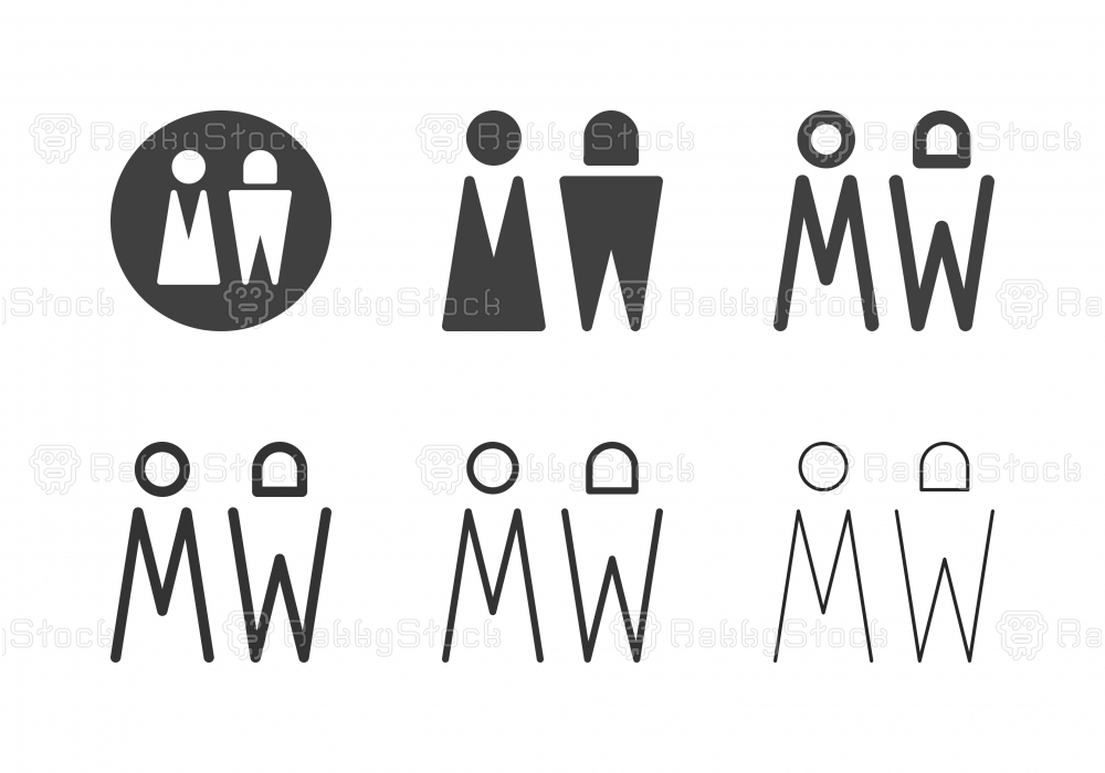 Man and Woman Icons - Multi Series