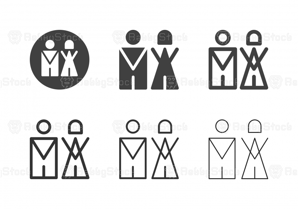 Gentleman and Lady Icons - Multi Series