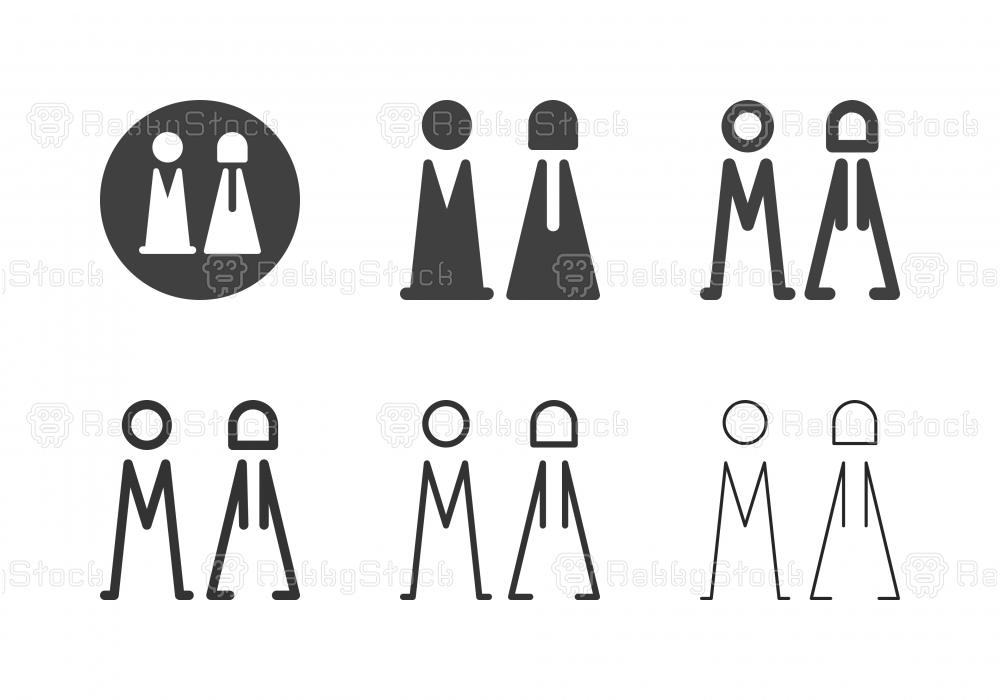 Bathroom Symbol Icons - Multi Series
