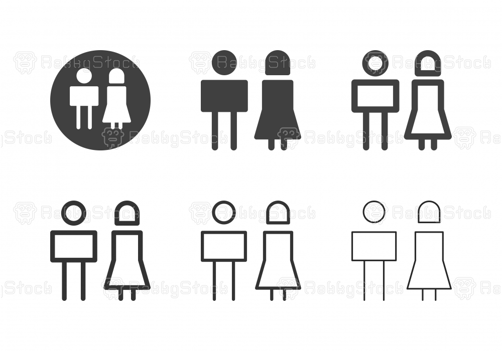 Girl and Boy Icons - Multi Series