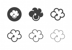 Cloud Computing Reloading Icons - Multi Series