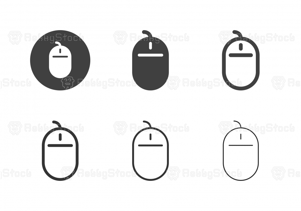 Computer Mouse Icons - Multi Series
