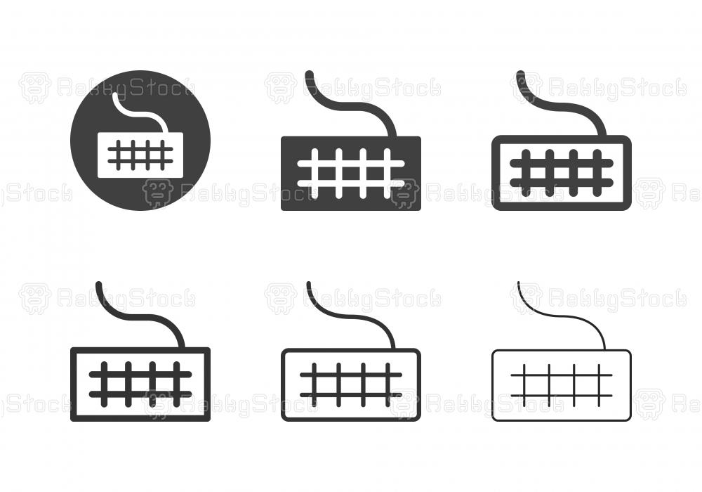 Computer Keyboard Icons - Multi Series