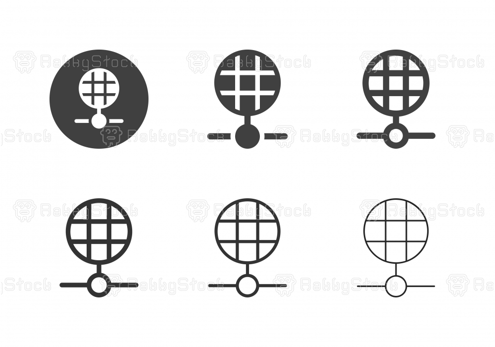 Global Network Icons - Multi Series