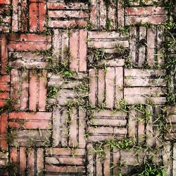 Bricks floor dirty