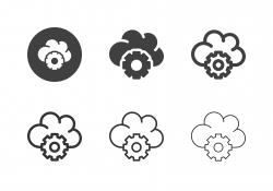 Cloud Computing Setting Icons - Multi Series