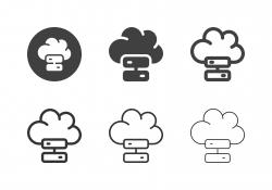 Cloud Storage Icons - Multi Series
