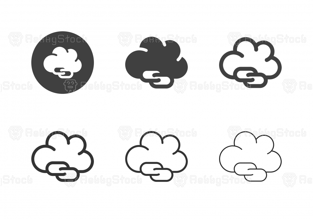 Cloud Connecting Icons - Multi Series