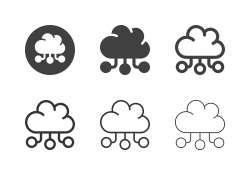 Cloud Data Service Icons - Multi Series