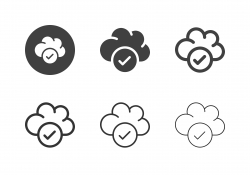 Cloud Checker Icons - Multi Series