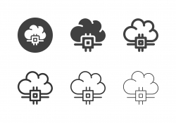 Cloud Processing Icons - Multi Series