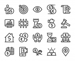 Business and Investment - Bold Line Icons