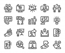 Business Consulting - Bold Line Icons