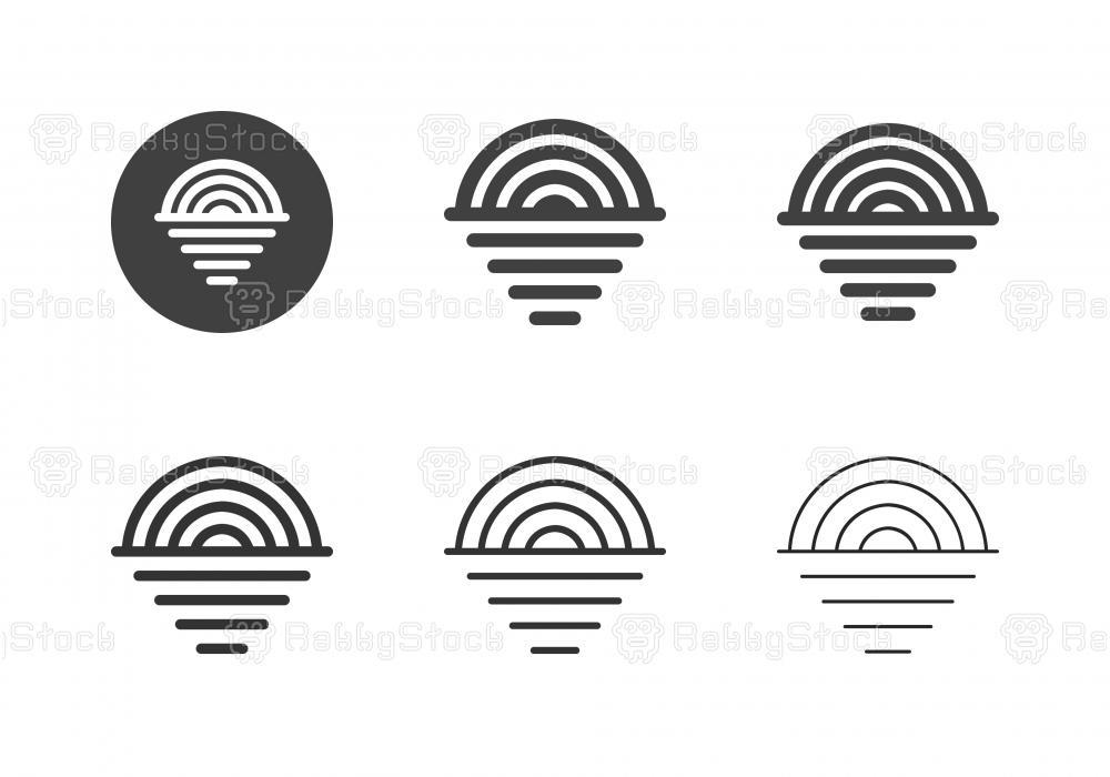 Rainbow on The Sea Icons - Multi Series
