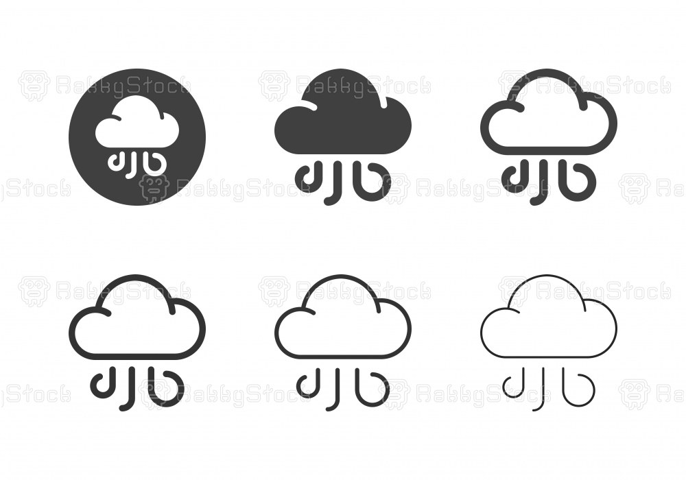 Wind Cloud Icons - Multi Series