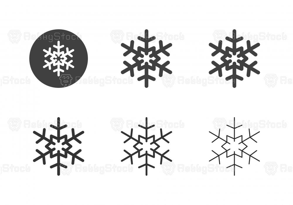 Snowflake Icons - Multi Series
