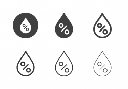 Relative Humidity Icons - Multi Series
