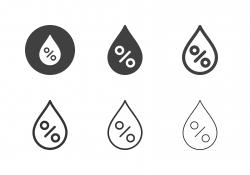 Relative Humidity Icons - Multi Series