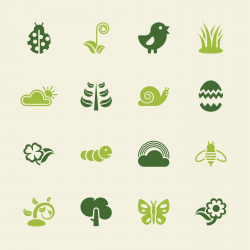Spring Season Icons - Color Series | EPS10