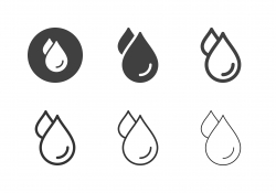 Water Drop Icons - Multi Series